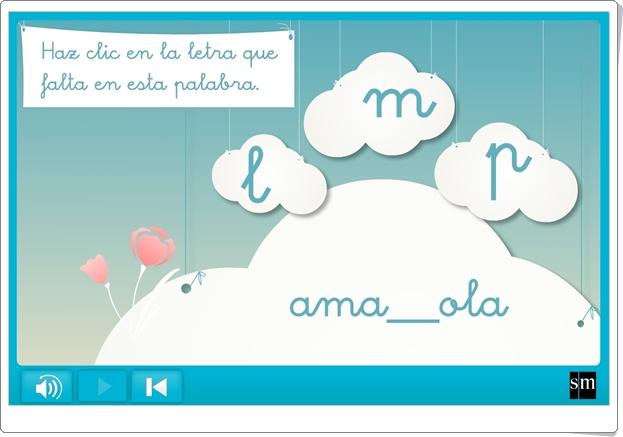 """Letras """"L"""" """"P"""" """"M"""" (Actividad interactiva de 1º de Primaria)"""