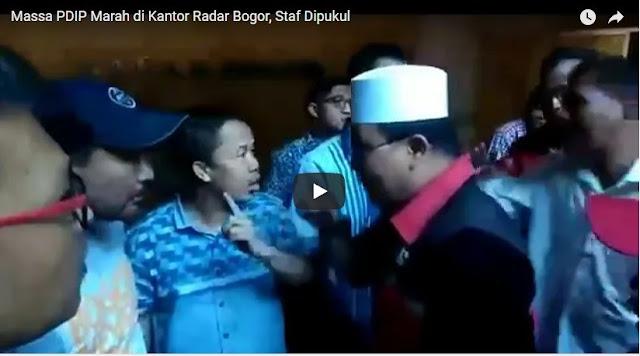 [Video] Massa PDIP Marah di Kantor Radar Bogor, Staf Dipukul
