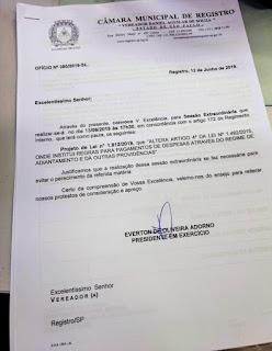 Câmara fará sessão extraordinária para viabilizar a participação de Registro-SP nos Jogos Regionais