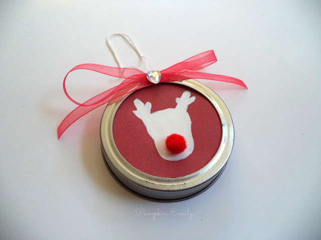 DIY Christmas Mason Jar Lid Ornament