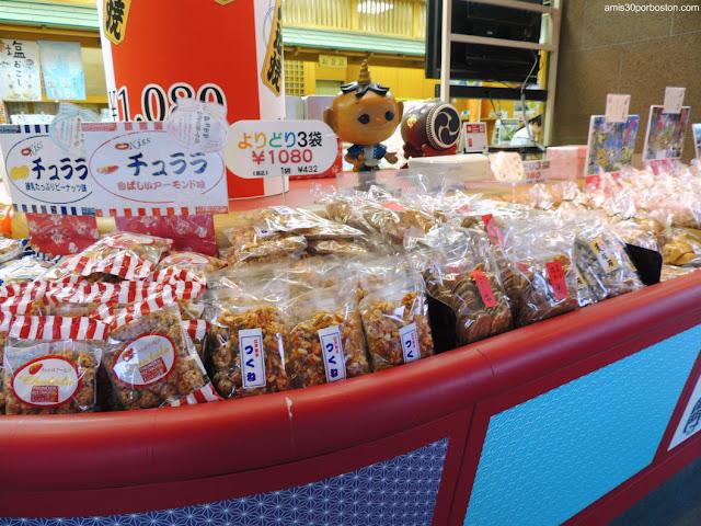 Comercio de Senbei en Tokio