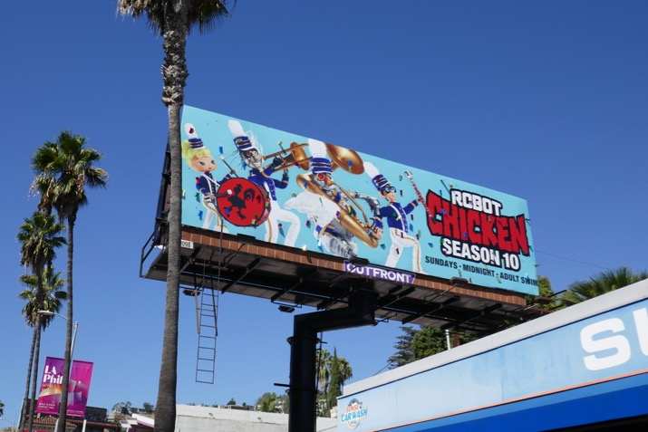 Special Robot Chicken season 10 billboard