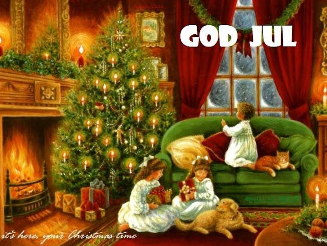 God Jul bilder text Julkort gratis