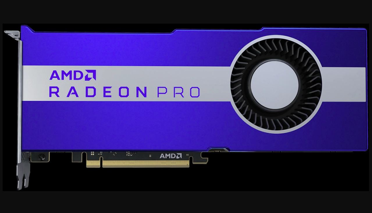 Presented a video card for AMD Radeon Pro VII workstations