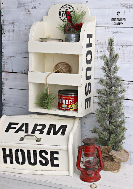 Mismatched Thrifted Items Upcycled to Coordinate in a Farmhouse Kitchen organizedclutter.net