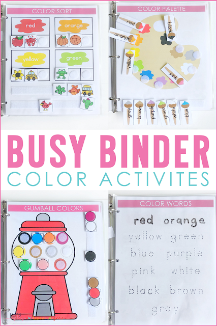 Busy Binder Color Activities