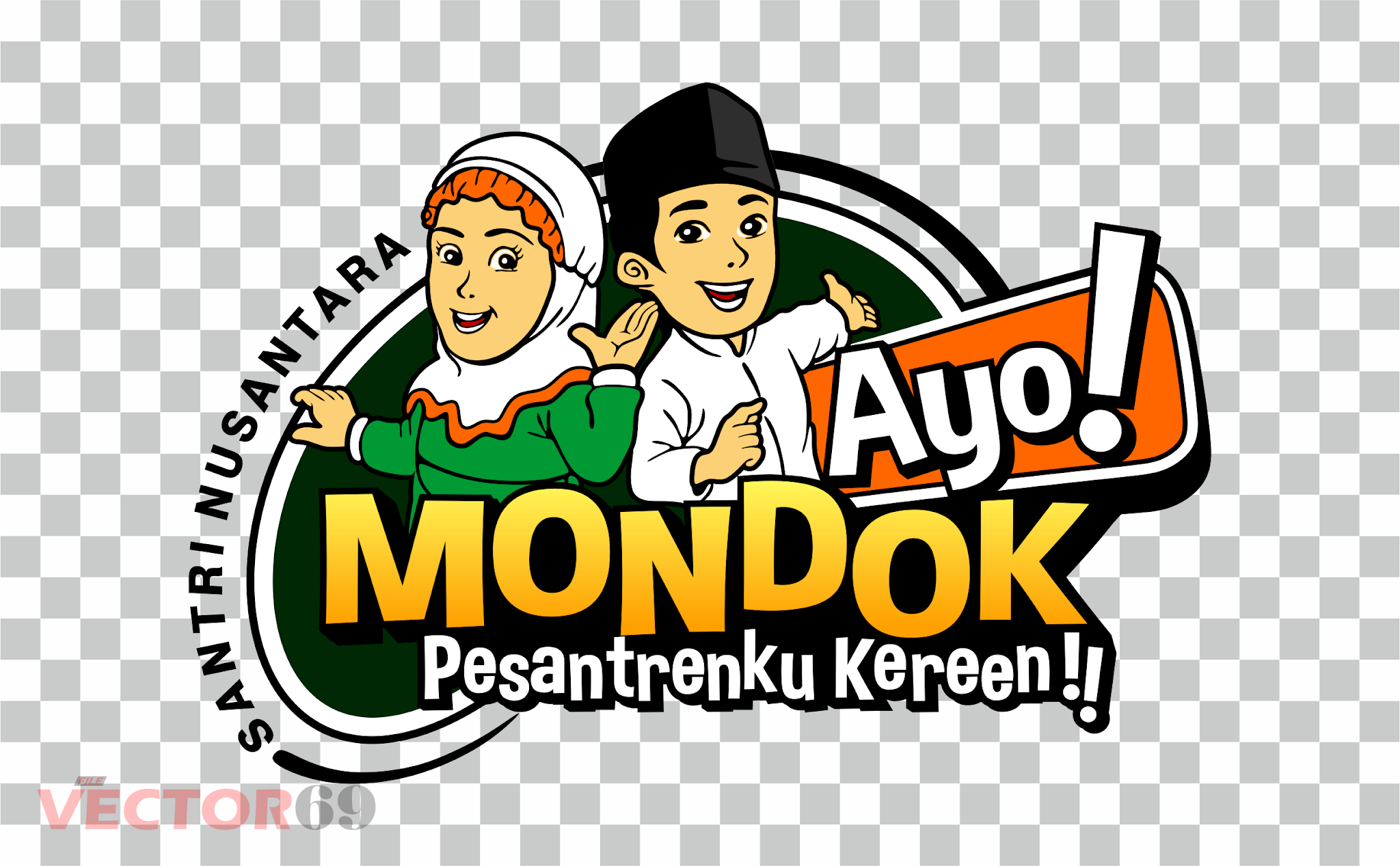 Ayo! Mondok, Pesantrenku Kereen!! Logo - Download Vector File PNG (Portable Network Graphics)