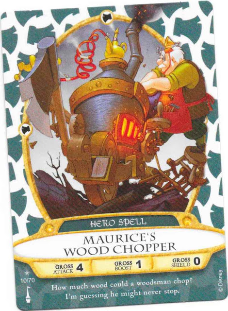 Maurice's Wood Chopper Sorcerers of the Magic Kingdom Spell Card 10/70