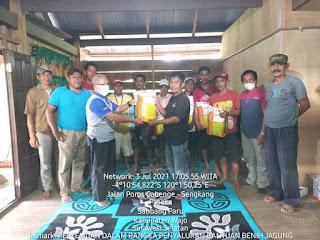 Kelompok Tani Jagung Desa Pasaka Kec Sabbangparu Mendapatkan Bantuan bibit Betras 1