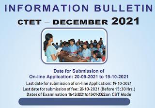 CBSE Central Teachers Eligibility Test (CTET) December 2021