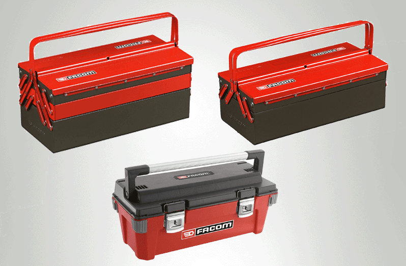 Boites à outils pour un mécanicien