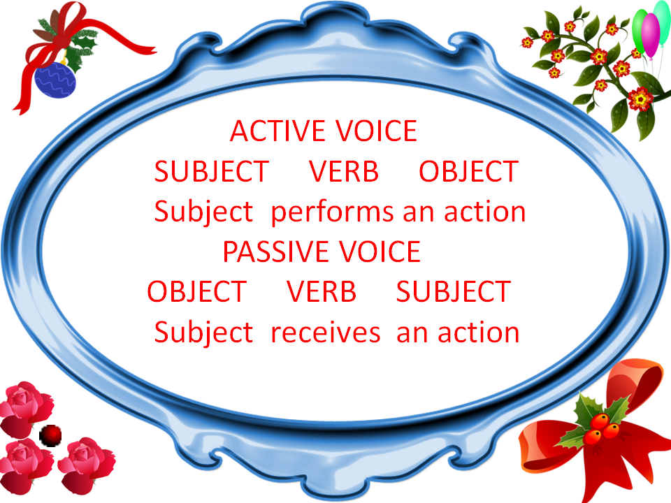 Question: Change the voice of the following sentences:-?