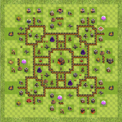 War Base Town Hall Level 10 By samdagon (Anti Valk TH 10 Layout)