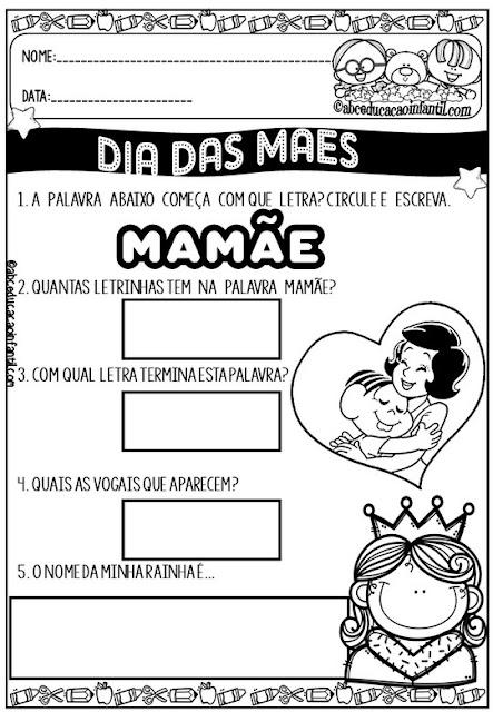 Atividades dia das mães