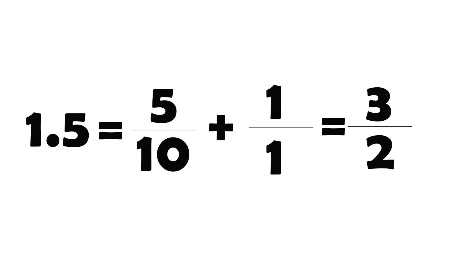 como convertir un decimal a fraccion