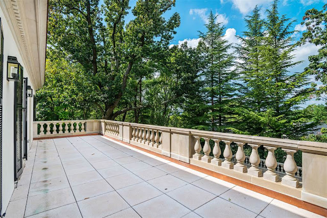 Terrace limestone Washington DC luxury mansion Kalorama regency style limestone