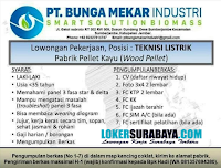 Loker Surabaya di PT. Bunga Mekar Industri Smart Solution Biomass Jember 2020