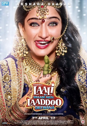 Laali Ki Shaadi Mein Laaddoo Deewana next upcoming movie first look, Poster of Akshara Haasan, Vivaan Shah download first look Poster, release date