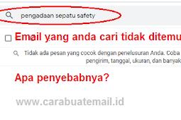 Penyebab Email Tidak Ditemukan di Kotak Pencarian Atas / Search