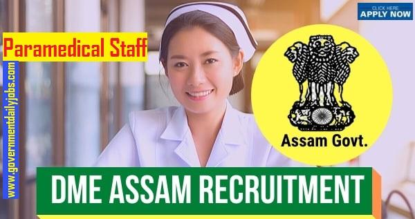 DME Assam Grade 3 Recruitment 2020 Notification