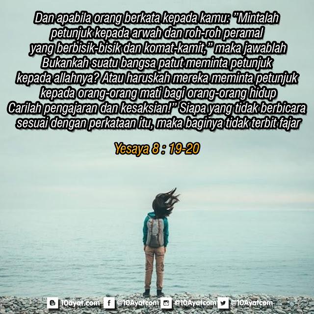 Yesaya 8 : 19-20