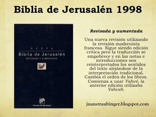 La Biblia En Español: La Biblia De Jerusalén 1967,1975