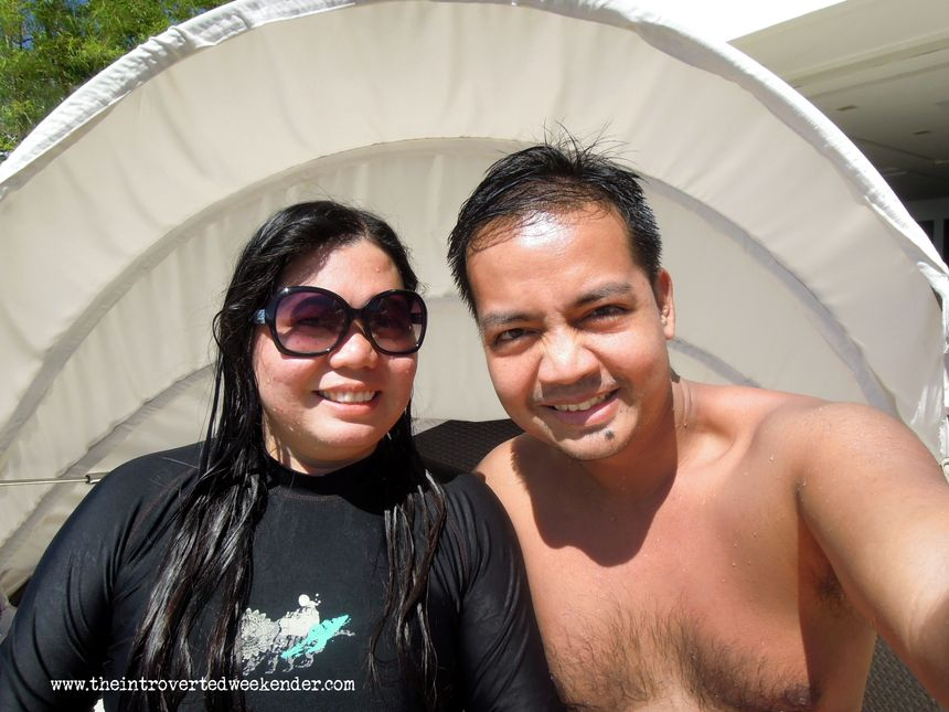 Enjoying the sun at Ocean Suites Boutique Hotel Bohol