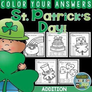 MORE St. Patrick's Day Color By Number Addition