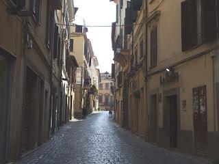 The Corso della Repubblica in the centre of Velletri, the town outside Rome where Augustus's family lived
