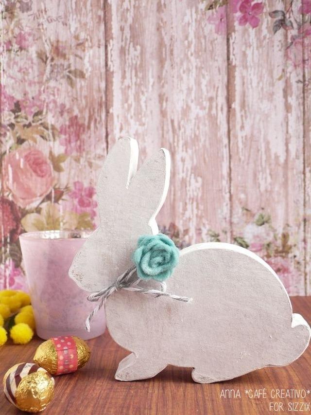 Coniglietto Shabby Chic fai da te per Pasqua