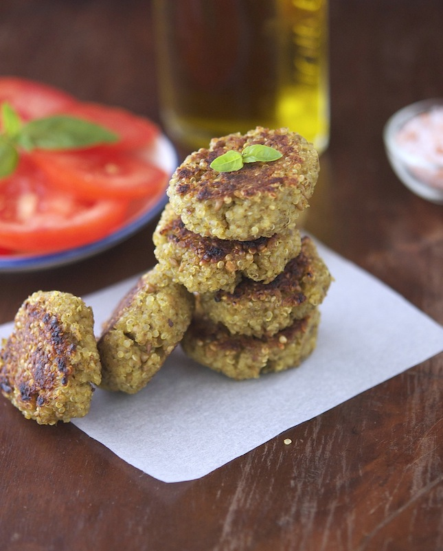 Pesto Quinoa Patties