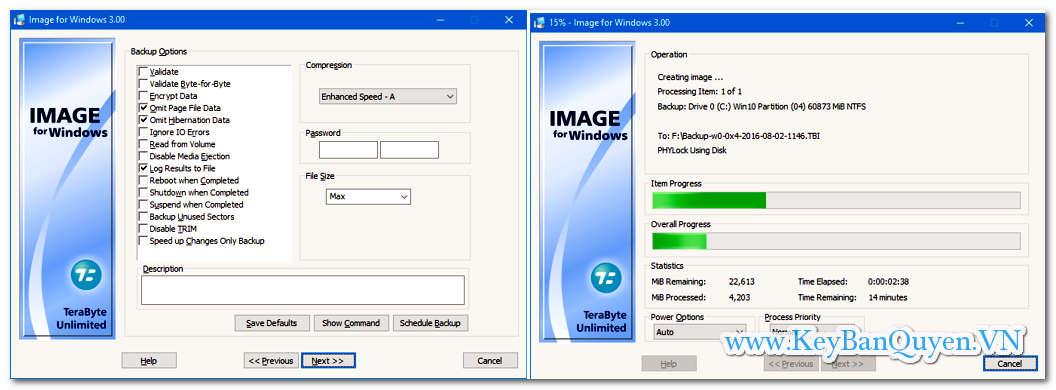 Download và cài đặt TeraByte Drive Image Backup & Restore Suite 3.32 Full Key,  Siêu ứng dụng phục hồi hệ thống máy trạm và Server .