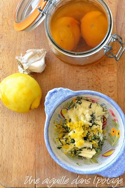 beurre-citron-ail-thym-citron confit au sel