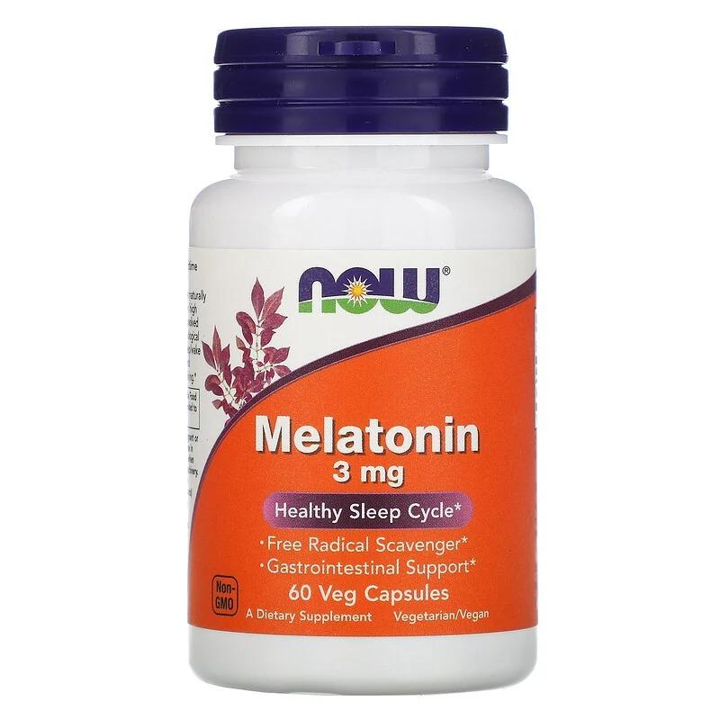 Now Foods, Melatonin, 3 mg, 60 Veg Capsules