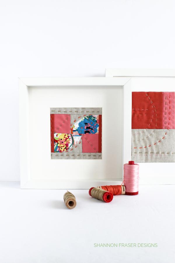 Modern mini art quilts   2019 Holiday Gift Guide   Shannon Fraser Designs #fiberart #miniartquilt #miniquilt #quilts #artquilt