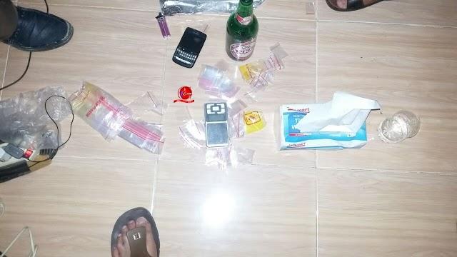 Mengedarkan Narkotika,  Empat Pemuda Pringsewu Ditangkap Polisi