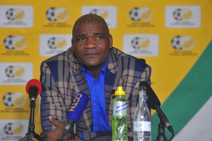 Ntseki speaking at a recent Bafana Bafana press conference