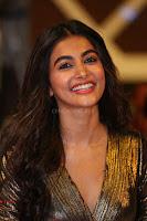 Pooja Hegde looks glamarous in deep neck sleevless short tight golden gown at Duvvada Jagannadham thank you meet function 152.JPG