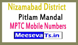 Pitlam Mandal MPTC Mobile Numbers List Nizamabad District in Telangana State