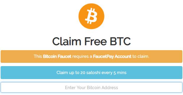 Cara mendapatkan faucet Bitcoin gratis setiap 5 menit