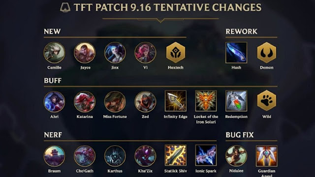 9.16 patch notes LOL Garena