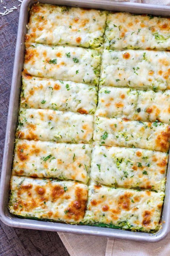Low Carb Cheesy Zucchini Breadsticks
