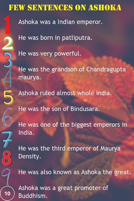 10 Sentences on Ashoka