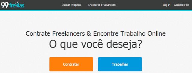 ganhar dinheiro com trabalhos freelancer 99freelas