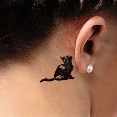 cat tattoo -cool cat tattoo