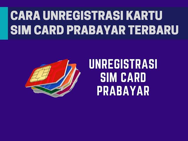 Seperti yang kita ketahui bahwa ketika ini semua pengguna kartu sim wajib untuk melaksanakan r Cara Unreg Kartu Indosat, Telkomsel, XL/Axis, Three (3) Terbaru