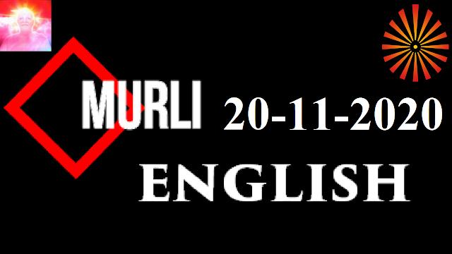 Brahma Kumaris Murli 20 November 2020 (ENGLISH)