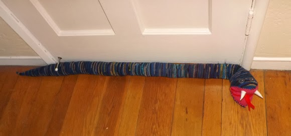 Clairesanders Net Knitted Door Snake And Crocheted Mice