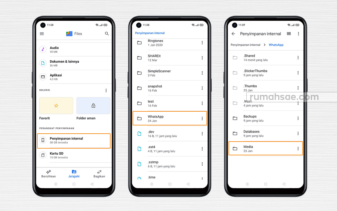 Manajer File Tidak Ada Tombol Show Hidden File, Simpan Status WA Teman di Galeri HP Via Google Files Aja