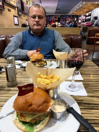 Hard Rock Cafe burgers
